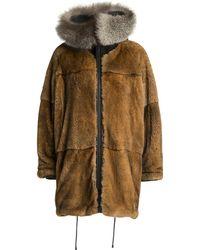 Yigal Azrouël | Reversible Rabbit Fur Lined Wool Parka | Lyst