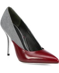 Alexander Wang Cicely Dotted & Smooth Leather Pumps - Lyst
