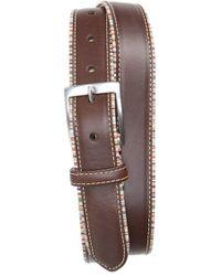 Paul Smith Stripe Trim Leather Belt - Lyst