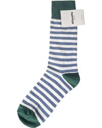 Etiquette Striped Sock blue - Lyst