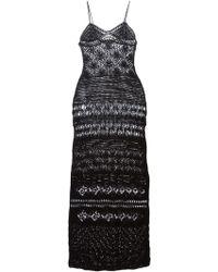 Emilio Pucci Crochet Long Dress - Lyst