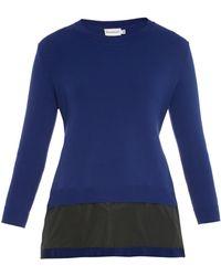 Moncler Contrast-Hem A-Line Sweater - Lyst