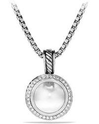 David Yurman Cerise Pendant with Diamonds - Lyst