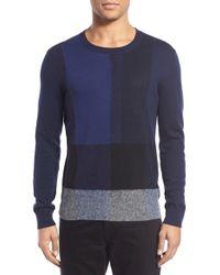 Burberry Brit - 'towersey' Color Block Crewneck Sweater - Lyst