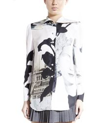 Carven Face Printed Button-Up - Lyst