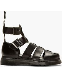 Dr. Martens Smooth Leather Gladiator Sandals - Lyst