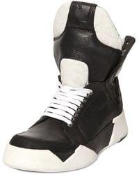 Cinzia Araia Leather High Top Sneakers black - Lyst