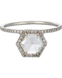 Mp Mineraux - Hexagonal Diamond Ring - Lyst
