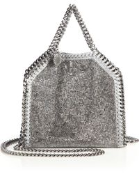 Stella McCartney | Falabella Tiny Baby Bella Embellished Faux Leather Tote | Lyst