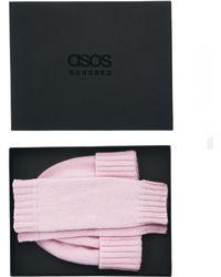 ASOS - Cashmere Beanie Palmwarmer Box Gift Set - Lyst