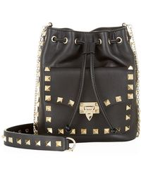 Valentino Mini Rockstud Drawstring Bag - Lyst