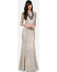Kay Unger Floral-Lace Gown - Lyst