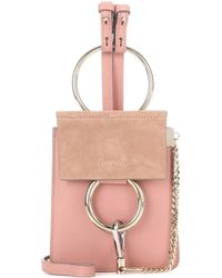 Chloé - Faye Mini Bracelet Leather And Suede Bag - Lyst