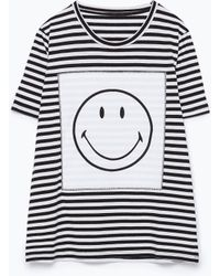 """Zara """"Smiley Happy Collection"""" T-Shirt - Lyst"""