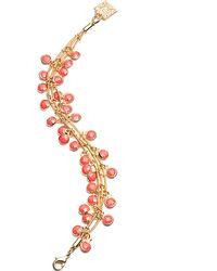 Anne Klein - Layered Shaky Coral Bead Bracelet - Lyst