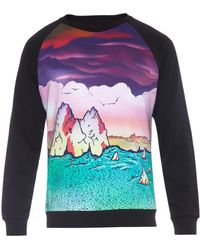Marc By Marc Jacobs Mars-Print Cotton-Jersey Sweatshirt - Lyst