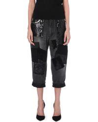 Junya Watanabe Patchwork Boyfriend Droppedcrotch Jeans Black - Lyst