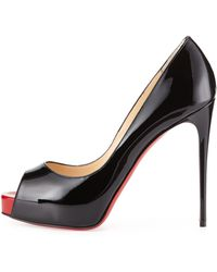 Christian Louboutin New Very Prive Patent Red Sole Pump - Lyst