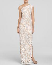 Tadashi Shoji Gown - One Shoulder Sequin Lace - Lyst