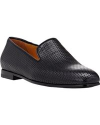 Giorgio Armani Woven Leather Venetian Loafers - Lyst