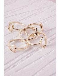 Missguided - Cut Out Stacking Rings 5 Pack - Lyst