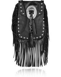 Saint Laurent - Anita Fringed Leather Shoulder Bag - Lyst