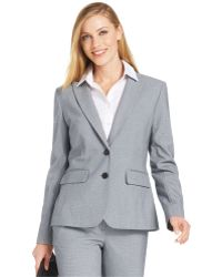 Jones New York Gray Two-Button Blazer - Lyst
