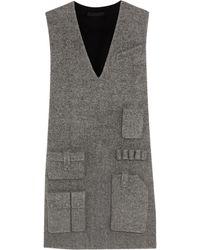 Alexander Wang Woolblend Twill Mini Dress - Lyst