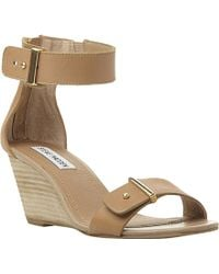 Steve Madden Narissaa Two-Part Wedge Sandals - Lyst