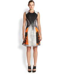 Yigal Azrouel Lattice Print Scuba Dress - Lyst