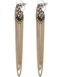 Sam Edelman Waterfall Chain Pave Drop Earrings - Lyst