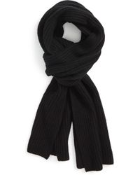 Calibrate - Ribbed Wool & Cashmere Scarf - Lyst