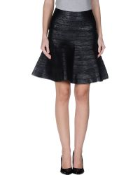 Hervé Léger Knee Length Skirt - Lyst