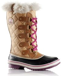 Sorel Tofino Cate Waterproof Leather and Canvas Boots - Lyst