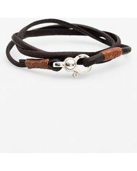 Caputo & Co. . Leather Wrap Bracelet - Dark Brown - Lyst