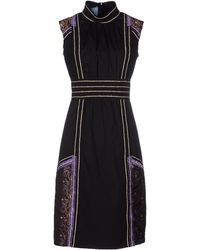 Prada Knee-Length Dress black - Lyst