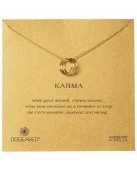 Dogeared - 14ct Gold Plated Triple Karma Ring Necklace - Lyst