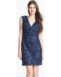 Marina Embellished Lace Sheath Dress - Lyst