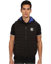 Versace Jeans Black Emblem Vest - Lyst