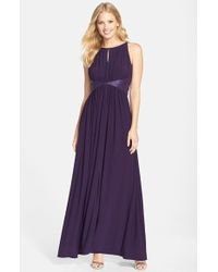 JS Boutique | Beaded Waist Jersey Gown | Lyst