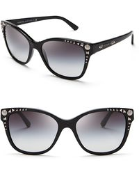 Versace Studded Wayfarer Sunglasses - Lyst