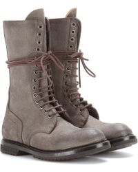 Rick Owens Army Leather Boots - Lyst