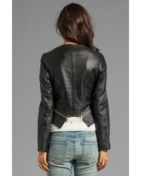 Alice By Temperley - Tatami Leather Jacket in Black - Lyst