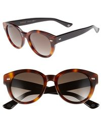 Gucci 50Mm Retro Sunglasses - Dark Havana/ Black brown - Lyst