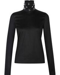 Dorothee Schumacher   black Multiple Visions Shirt Turtleneck 1/1   Lyst