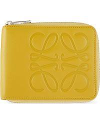 Loewe Calf-Leather Bi-Fold Wallet - Lyst