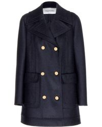 Valentino Double-Breasted Wool Coat - Lyst