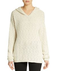 Eileen Fisher Organic Cotton Hooded Sweater - Lyst