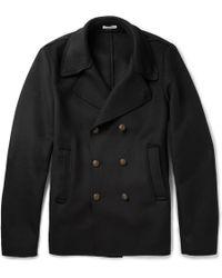 Tomas Maier Black Wool-blend Peacoat - Lyst