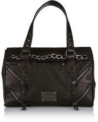 Balmain Studded Leather Tote - Lyst